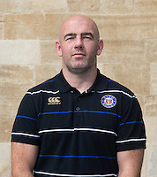 High Performance Manager Allan Ryan poses for a portrait at a Bath Rugby photocall. Bath Rugby Media Day on September 8, 2015 at Farleigh House in Bath, England. Photo by: Rogan Thomson for Onside Images