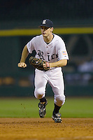 First baseman Jimmy Comerota #2 of the Rice Owls on defense versus the UCLA Bruins in the 2009 Houston College Classic at Minute Maid Park February 27, 2009 in Houston, TX.  The Owls defeated the Bruins 5-4 in 10 innings. (Photo by Brian Westerholt / Four Seam Images)