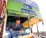 Sir Alex Ferguson in a Govan bus outside Ibrox Stadium, 2000