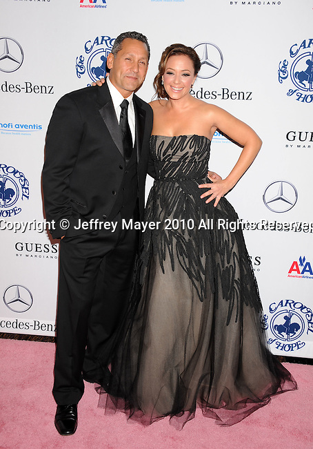 BEVERLY HILLS, CA. - October 23: Leah Remini and husband Angelo Pagan attend The 32nd Annual Carousel Of Hope Ball at The Beverly Hilton Hotel on October 23, 2010 in Beverly Hills, California.