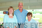 GOOD FUN: Enjoying good fun at the Lee Strand Semi-Finals Night at the Dogs at the Kingdom Greyhound Stadium on Friday l-r: Melanie Marty, Tralee and Patrick and Noreen Griffin from Killorglin.
