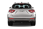 Straight rear view of a 2017 Maserati Levante Base 5 Door SUV stock images
