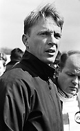 Watkins Glen, New York, USA. 01 Oct 1967. Formula One driver Dan Gurney attends a 1967 race at Watkins Glen, New York.