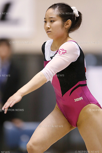 Koko Tsurumi, APRIL 25, 2015 - Artistic Gymnastics : The 69th All Japan Gymnastics Championship Wmen's Individual All-Around Floor at 1st Yoyogi Gymnasium, Tokyo, Japan. (Photo by Sho Tamura/AFLO SPORT) [1180]
