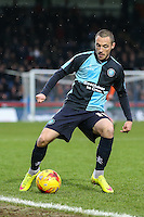 Michael Harriman of Wycombe Wanderers during the Sky Bet League 2 match between Wycombe Wanderers and Luton Town at Adams Park, High Wycombe, England on 6 February 2016. Photo by David Horn.