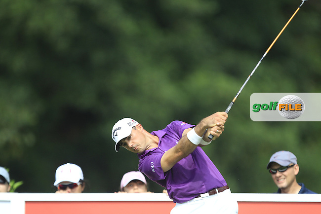 Jonathan Byrd (USA) on the 7th tee during Round 4 of the CIMB Classic in the Kuala Lumpur Golf &amp; Country Club on Sunday 2nd November 2014.<br /> Picture:  Thos Caffrey / www.golffile.ie