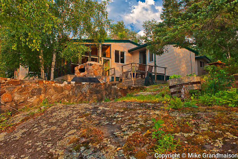 Cottage at Star Lake at sunrise. Cottage Country Living.<br />