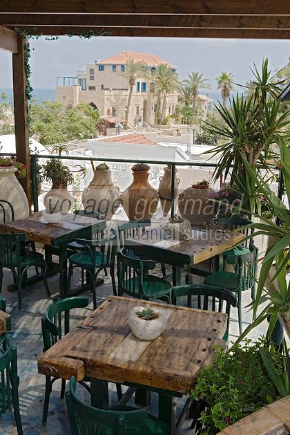 Asie/Israel/Tel-Aviv-Jaffa/Jaffa: Maison-Musée de l'artiste Ilana Goor (Gur) - Ilana Goor Muséum - la terrasse