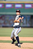 ***Temporary Unedited Reference File***Mississippi Braves relief pitcher Madison Younginer (26) during a game against the Jacksonville Suns on May 1, 2016 at The Baseball Grounds in Jacksonville, Florida.  Jacksonville defeated Mississippi 3-1.  (Mike Janes/Four Seam Images)