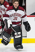 Merrick Madsen (Harvard - 31) - The visiting Yale University Bulldogs defeated the Harvard University Crimson 2-1 (EN) on Saturday, November 15, 2014, at Bright-Landry Hockey Center in Cambridge, Massachusetts.