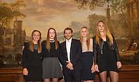 Februari 04, 2015, Apeldoorn, Omnisport, Fed Cup, Netherlands-Slovakia, Official Diner in Het Loo palace, Team Slovakia<br /> Photo: Tennisimages/Henk Koster