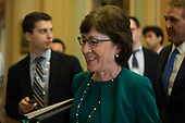 United States Senator Susan Collins (Republican of Maine) walks to the US Senate Chamber for a procedural vote in the US Capitol in Washington, DC on Friday, December 1, 2017. <br /> Credit: Alex Edelman / CNP
