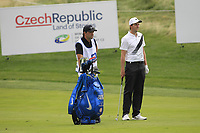 Ashley Chesters (ENG) on the 1st fairway during Round 1 of the D+D Real Czech Masters at the Albatross Golf Resort, Prague, Czech Rep. 31/08/2017<br /> Picture: Golffile | Thos Caffrey<br /> <br /> <br /> All photo usage must carry mandatory copyright credit     (&copy; Golffile | Thos Caffrey)