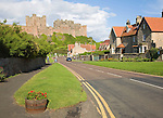 Bamburgh Castle and village, Nortumberland, England