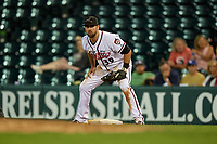 Richmond Flying Squirrels first baseman Zach Houchins (39) during an Eastern League game against the Binghamton Rumble Ponies on May 29, 2019 at The Diamond in Richmond, Virginia.  Binghamton defeated Richmond 9-5 in ten innings.  (Mike Janes/Four Seam Images)