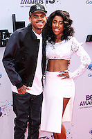 LOS ANGELES, CA - JUNE 30: Chris Brown and Sevyn Streeter attend the 2013 BET Awards at Nokia Theatre L.A. Live on June 30, 2013 in Los Angeles, California. (Photo by Celebrity Monitor)