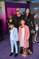 Vin Diesel, Paloma Jimenez &amp; Children at the world premiere for &quot;Guardians of the Galaxy Vol. 2&quot; at the Dolby Theatre, Hollywood. <br /> Los Angeles, USA 19 April  2017<br /> Picture: Paul Smith/Featureflash/SilverHub 0208 004 5359 sales@silverhubmedia.com