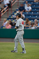 Joe Benson (44) of the Ft. Myers Miracle during a game vs. the Brevard County Manatees May 29 2010 at Space Coast Stadium in Viera, Florida. Ft. Myers won the game against Jupiter by the score of 3-2. Photo By Scott Jontes/Four Seam Images