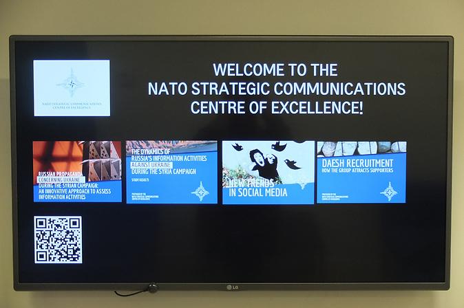 Im Gebäude der Nato-Denkfabrik StratCom in Riga