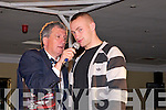 "The Cube: Attending ""The Cube ""  game show organized by Listowel Ladies GAA at the Listowel Arms Hotel on Saturday night last was guest of honour & contesrtant Barry John Keane being interviewed by MC Billy Keane."