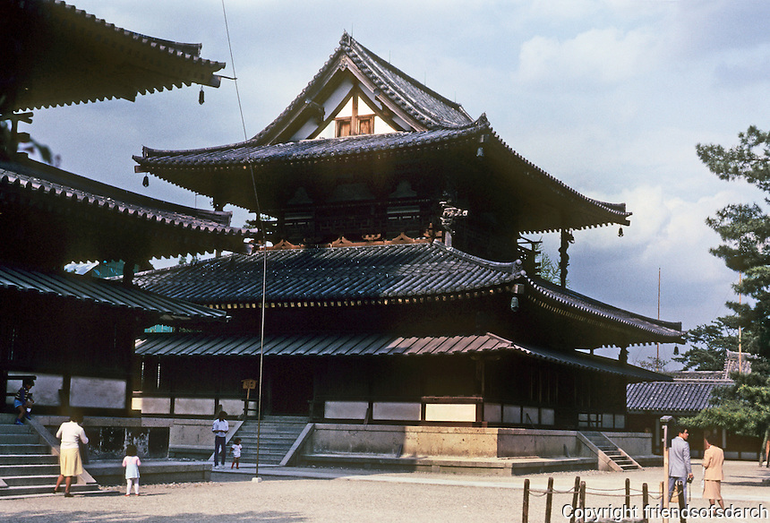 Nara Prefecture: Horyuji Temple, The Kondo (Golden Hall). Photo '82.