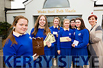 St Brigids Presentation school Killarney are holding a raffle top prize ais a trip away to the Castlemartyr resort to help with costs l-r: aoife Callaghan, Collete Murphy, Anna Myers, Jordan Hourigan, Wmily Rose McAllen, Shona Collins and Principal Roisin Moore