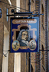 The Captain Kidd pub in Wapping High Street, Wapping, London