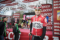 Sander Armée (BEL/Lotto-Belisol) was in a daylong breakaway group the day before and showed himself in his very first (regular) stage of his very first Grand Tour<br /> <br /> Giro d'Italia 2014<br /> stage 3: Armagh (NI) - Dublin (IRL) 187km