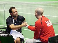 14-02-13, Tennis, Rotterdam, ABNAMROWTT, Michael Jeremaisz, Ronald de Vink