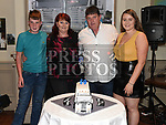 Pat Brady celebrating his 50th birthday with his wife Margaret, son Oisín and daughter Ellen in The Thatch. Photo:Colin Bell/pressphotos.ie