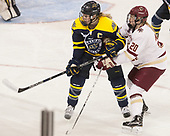 Jessica Bonfe (Merrimack - 17), Ryan Little (BC - 20) - The number one seeded Boston College Eagles defeated the eight seeded Merrimack College Warriors 1-0 to sweep their Hockey East quarterfinal series on Friday, February 24, 2017, at Kelley Rink in Conte Forum in Chestnut Hill, Massachusetts.The number one seeded Boston College Eagles defeated the eight seeded Merrimack College Warriors 1-0 to sweep their Hockey East quarterfinal series on Friday, February 24, 2017, at Kelley Rink in Conte Forum in Chestnut Hill, Massachusetts.