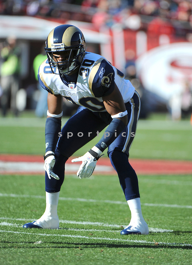 NATE NESS, of the St. Louis Rams, in action during the Rams game against the San Francisco 49ers on December 4, 2011 at Candlestick Park in San Francisco, CA. The 49ers beat the Rams 26-0.