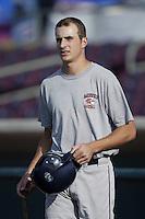 Rocco Baldelli of the Bakersfield Blaze before a California League 2002 season game against the San Bernardino Stampede at San Manuel Stadium, in San Bernardino, California. (Larry Goren/Four Seam Images)