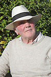 Model released senior adult male wearing a hat on a sunny day