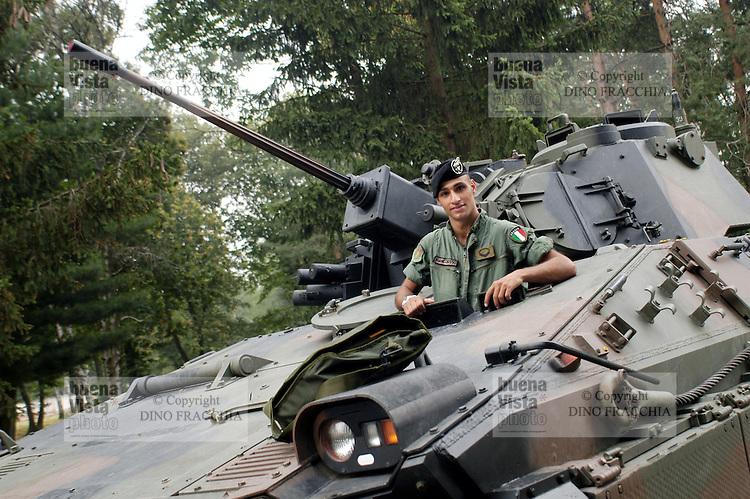 """-  NATO Rapid Reaction Force, Italian contingent of the Support Group, infantry armoured fighting vehicle VCC 80 """"Dardo""""....- forza NATO di Reazione Rapida, contingente italiano del Gruppo di Supporto, veicolo corazzato da combattimento per fanteria VCC 80 """"Dardo"""""""