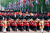 "TROOPING THE COLOUR.Soldiers of the Household Division paraded today to mark the Queen's Official Birthday on Horse Guards Parade at the ceremony known as Trooping the Colour..The Colour trooped in the presence of Her Majesty The Queen, was the new Colour of the 1st Battalion Grenadier Guards, which was presented by Her Majesty on 12th May..The parade consisited of 1400 Soldiers in the traditional uniforms of the Household Cavalry, Royal Horse Artillery, and Foot Guards, over 200 horses and about 400 musicians from ten bands & corps of drums..The Duke of Edinburgh and the Royal Colonels (Prince Charles, The Princess Royal, and The Duke of Kent) were also at the parade..Photo Credit: ©Dias/Newspix International..**ALL FEES PAYABLE TO: ""NEWSPIX INTERNATIONAL""**..PHOTO CREDIT MANDATORY!!: NEWSPIX INTERNATIONAL..IMMEDIATE CONFIRMATION OF USAGE REQUIRED:.Newspix International, 31 Chinnery Hill, Bishop's Stortford, ENGLAND CM23 3PS.Tel:+441279 324672  ; Fax: +441279656877.Mobile:  0777568 1153.e-mail: info@newspixinternational.co.uk"