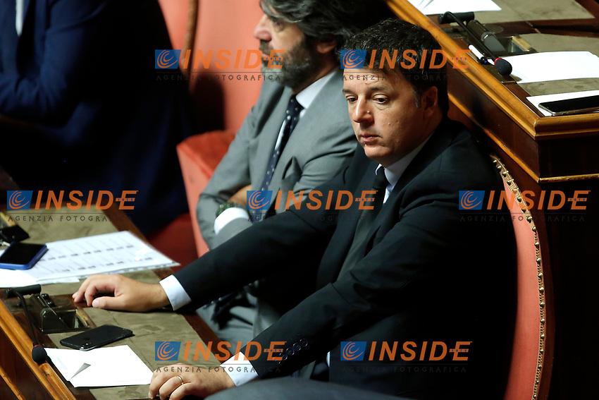 Matteo Renzi<br /> Roma 12/09/2018. Senato. Informativa sulla Nave Diciotti<br /> Rome September 12th 2018. Senate. Speech of the Italian Premier about the Diciotti ship, carrying 177 migrants, rejected by Italy.<br /> Foto Samantha Zucchi Insidefoto