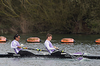 Caversham. Berkshire. UK<br /> Men's pair, Chetan CHAUHAN-SIMS and Edward GLEADOWE, competing at the 2016 GBRowing U23 Trials at the GBRowing Training base near Reading, Berkshire.<br /> <br /> Monday  11/04/2016 <br /> <br /> [Mandatory Credit; Peter SPURRIER/Intersport-images]