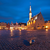 Town hall and square, Tallinn, Estonia