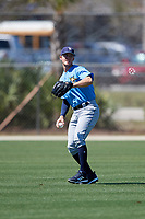 Tampa Bay Rays Jake Stone (74) warms up before a Minor League Spring Training game against the Minnesota Twins on March 17, 2018 at CenturyLink Sports Complex in Fort Myers, Florida.  (Mike Janes/Four Seam Images)
