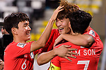 Kim Minjae of South Korea celebrates scoring his goal with teammates during the AFC Asian Cup UAE 2019 Group C match between South Korea (KOR) and China (CHN)  at Al Nahyan Stadium on 16 January 2019 in Abu Dhabi, United Arab Emirates. Photo by Marcio Rodrigo Machado / Power Sport Images