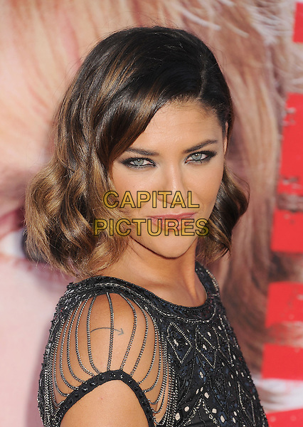 Jessica Szohr<br /> at the Los Angeles Premiere of &quot;The Internship&quot; at Regency Village Theatre in Westwood, California, USA, May 29th, 2013.<br /> portrait headshot makeup beauty eyeliner  black beaded sheer side <br /> CAP/ROT/TM<br /> &copy;Tony Michaels/Roth Stock/Capital Pictures