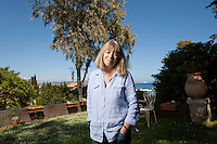 Sarah Bartlett, astrologer, poses for the photographer in her garden, Mandelieu-la-Napoule, France, 03 May 2012