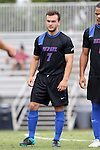 30 August 2015: DePaul's Hans Wustling (GER). The Duke University Blue Devils hosted the DePaul University Blue Demons at Koskinen Stadium in Durham, NC in a 2015 NCAA Division I Men's Soccer match.