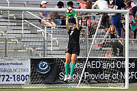 Cary, North Carolina  - Saturday June 17, 2017: Sammy Jo Prudhomme prior to a regular season National Women's Soccer League (NWSL) match between the North Carolina Courage and the Boston Breakers at Sahlen's Stadium at WakeMed Soccer Park. The Courage won the game 3-1.