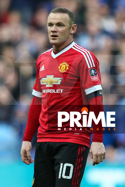 Wayne Rooney of Manchester United during the FA Cup Semi-Final match between Everton and Manchester United at Wembley Stadium, London, England on 23 April 2016. Photo by David Horn / PRiME Media Images.