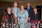 ANNUAL DINNER: Enjoying a great time at the Kerry GAA supporters club annual dinner at the Ballygarry House hotel, Tralee on Saturday l-r: Margie Flynn, Frank Corrigan, Maria Walsh, Denis Brosnan and Siobhan Brosnan.
