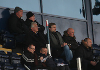 Falkirk Manager Steven Pressley watches from the stand at the Falkirk v St Mirren  Scottish Football Association Youth Cup 4th Round match played at the Falkirk Stadium, Falkirk on 16.12.12.