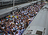 LIRR commuters flock to Belmont Park to see the 150th running of the Belmont Stakes on Saturday, June 9, 2018