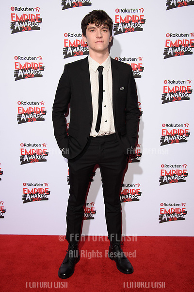 Fionn Whitehead arriving for the Empire Awards 2018 at the Roundhouse, Camden, London, UK. <br /> 18 March  2018<br /> Picture: Steve Vas/Featureflash/SilverHub 0208 004 5359 sales@silverhubmedia.com
